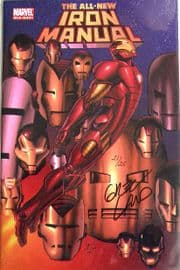 All New Iron Manual One Shot Dynamic Forces Signed Greg Land DF COA Ltd 25 Marvel comic book