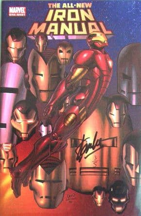 All New Iron Manual One Shot Dynamic Forces Signed Stan Lee DF COA Ltd 5 Iron Man Marvel comic book