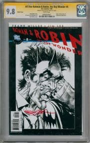 All Star Batman & Robin #8 Sketch Variant CGC 9.8 Signature Series Signed Neal Adams DC comic book