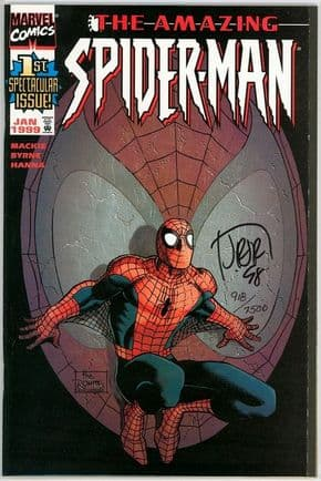 Amazing Spider-man #1 (1999) Dynamic Forces Romita Variant Signed John Romita Jr DF COA Marvel
