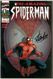 Amazing Spider-man #1 (1999) Dynamic Forces Romita Variant Signed Stan Lee DF COA #5 Marvel comic
