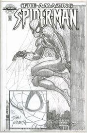 Amazing Spider-man #1 Authentix Dynamic Forces Signed Remarked John Romita Sketch DF COA Marvel