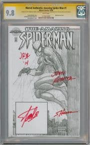 Amazing Spider-man #1 Authentix Variant CGC 9.8 Signature Series Signed x4 Stan Lee Romita Sr Marvel