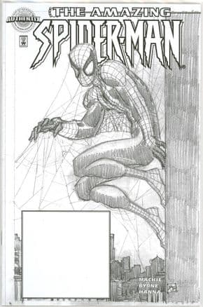 Amazing Spider-man #1 John Romita Jr Dynamic Forces Authentix Sketch Variant DF COA 9.8 Marvel comic