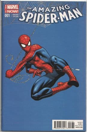 Amazing Spider-man #1 McGuinness Retail Variant 1:50 (2014) 1st Silk Marvel comic book