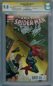 Amazing Spider-man #1 Opena Variant 1:75 CGC 9.8 Signature Series Signed x4 Stan Lee 1st Silk Marvel