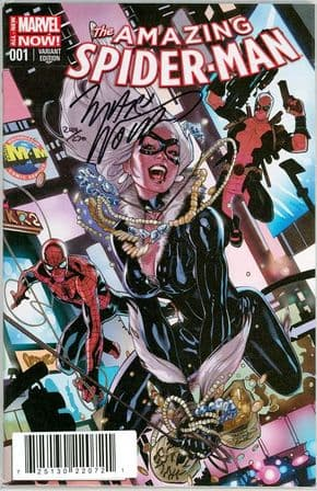 Amazing Spider-man #1 Terry Dodson Deadpool Variant Dynamic Forces Signed Marv Wolfman DF COA Marvel comic book