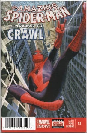 Amazing Spider-man #1.1 First Print Dynamic Forces Signed Alex Ross DF COA Marvel comic book