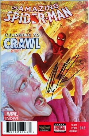 Amazing Spider-man #1.3 First Print Dynamic Forces Signed Alex Ross DF COA Marvel comic book