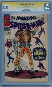 Amazing Spider-man #47 1967 CGC 8.5 Signature Series Signed Stan Lee John Romita Kraven Marvel comic