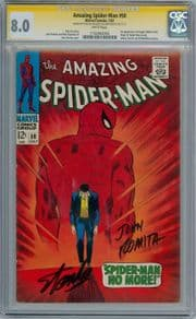 Amazing Spider-man #50 CGC 8.0 Signature Series Signed Stan Lee John Romita 1st App Kingpin Marvel