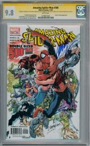 Amazing Spider-man #500 CGC 9.8 Signature Series Signed x5 Stan Lee Scott Campbell Marvel comic book