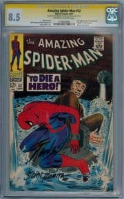 Amazing Spider-man #52 CGC 8.5 Signature Series Signed Stan Lee & John Romita Sr Marvel comic