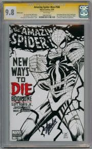 Amazing Spider-man #568 No UPC Sketch Variant CGC 9.8 Signature Series Signed Stan Lee Venom Marvel