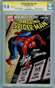 Amazing Spider-man #568 Variant CGC 9.8 Signature Series Signed Stan Lee John Romita Sr Venom Marvel