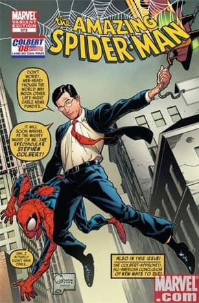Amazing Spider-man #573 Colbert Variant (2008) Marvel comic book