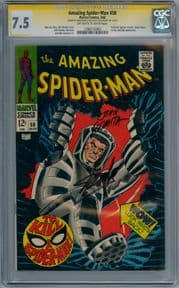 Amazing Spider-man #58 CGC 7.5 Signature Series Signed Stan Lee & John Romita Sr Marvel Comics