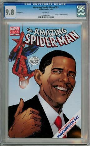 Amazing Spider-man #583 Obama Variant First Print CGC 9.8 Marvel comic book