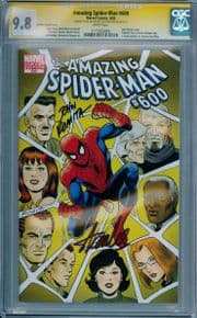 Amazing Spider-man #600 Variant CGC 9.8 Signature Series Signed Stan Lee John Romita Sr Marvel