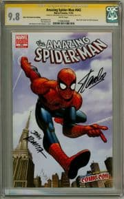 Amazing Spider-man #642 NYCC Variant CGC 9.8 Signature Series Signed Stan Lee John Romita Marvel