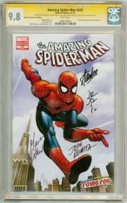 Amazing Spider-man #642 NYCC Variant CGC 9.8 Signature Series Signed x4 Stan Lee Waid Romita Jr Sr