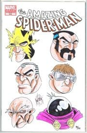 Amazing Spider-man #648 Blank Dynamic Forces Signed Remarked Sketch x6 Ken Haeser DF COA Marvel