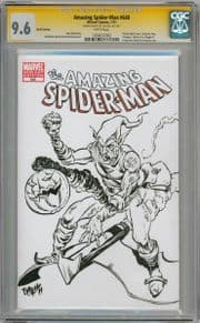 Amazing Spider-man #648 CGC 9.6 Signature Series Signed Vigil Green Goblin Sketch OA Marvel comic