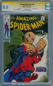 Amazing Spider-man #69 (1969) CGC 8.0 Signature Series Signed Stan Lee & John Romita Sr Marvel