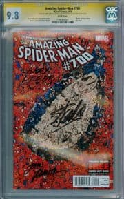 Amazing Spider-man #700 CGC 9.8 Signature Series Signed Stan Lee John Romita Larry Leiber Comic