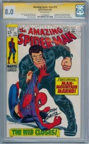 Amazing Spider-man #73 CGC 8.0 Signature Series Signed John Romita Sr Marvel