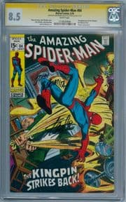 Amazing Spider-man #84 1970 CGC 8.5 Signature Series Signed Stan Lee John Romita 2nd Schemer
