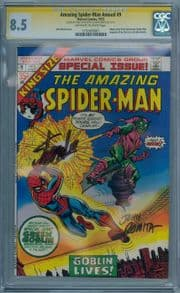 Amazing Spider-man Annual #9 CGC 8.5 Signature Series Signed Stan Lee John Romita Marvel comic