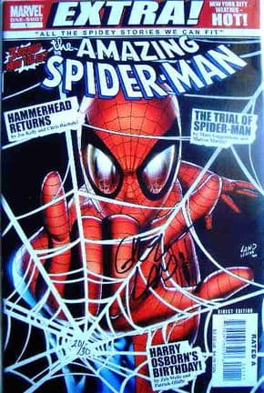 Amazing Spider-man Extra #1 Dynamic Forces Signed Greg Land DF COA LTd 30 Marvel comic book