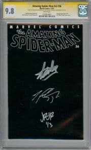 Amazing Spider-man Volume 2 #36 CGC 9.8 Signature Series Signed x3 Stan Lee Romita Jr 911 WTC Marvel