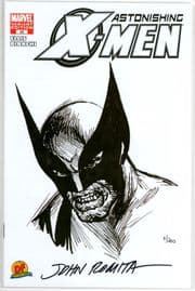 Astonishing X-Men #25 Dynamic Forces Wolverine Sketch Variant Signed John Romita Sr DF COA Marvel