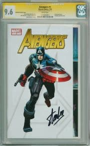 Avengers #1 Party Gatefold Variant CGC 9.6 Signature Series Signed Stan Lee Marvel Comic Book