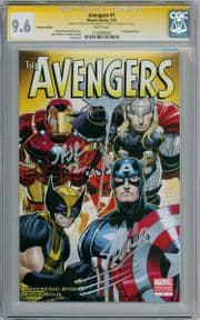 Avengers #1 Premiere Variant CGC 9.6 Signature Series Signed Stan Lee Romita Jr Marvel Comic Book