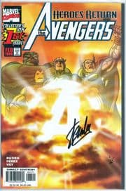 Avengers #1 Sunburst Variant Dynamic Forces Signed Stan Lee DF COA #1 Ltd 25 Marvel comic book