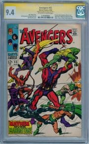 Avengers #55 (1968) CGC 9.4 Signature Series Signed Stan Lee 1st App Ultron Marvel comic book