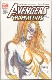 Avengers Invaders #1 Dynamic Forces Authentix Signed Dan Brereton Remarked Moonstone Sketch DF COA
