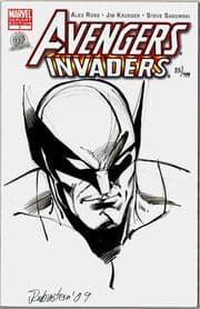 Avengers Invaders #1 Dynamic Forces Authentix Signed Joe Rubenstein Remarked Wolverine Sketch DF COA