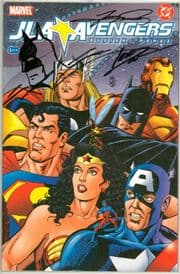 Avengers JLA #1 Dynamic Forces Signed George Perez Tom Smith Batman Sketch DF COA Ltd 99 Marvel