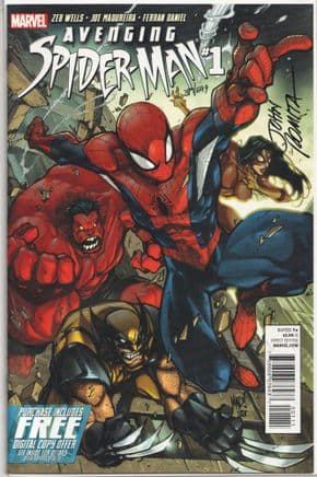 Avenging Spider-man #1 Dynamic Forces Signed John Romita Sr COA Marvel comic book