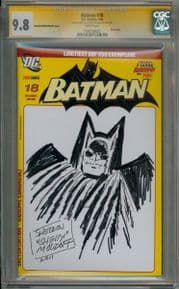Batman #18 German Blank Variant CGC 9.8 Signature Series Signed Sheldon Moldoff Sketch DC comic book