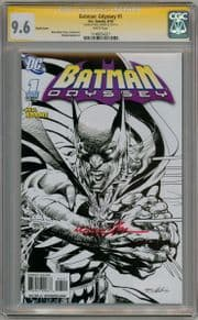 Batman Odyssey #1 Sketch Variant CGC 9.6 Signature Series Signed Neal Adams DC comic book