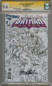 Batman Odyssey Volume 2 #1 Sketch Variant CGC 9.6 Signature Series Signed Neal Adams DC comic book