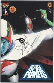 Battle of the Planets #1 Dynamic Forces Alternate Signed Remarked Keyop Sketch DF COA Ltd 99