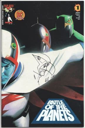 Battle of the Planets #1 Dynamic Forces Alternate Signed Remarked Mark Sketch DF COA Ltd 99