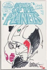 Battle of the Planets #2 SDCC Signed Remarked Lansang Sketch Jay Company COA #41 Top Cow