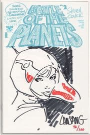 Battle of the Planets #2 SDCC Signed Remarked Lansang Sketch Jay Company COA #76 Top Cow